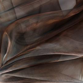 Tissu Organza brun x 50cm