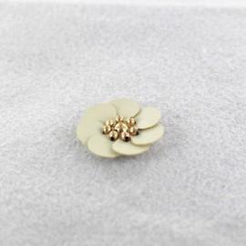 Fleur cuir à coller/ coudre lin