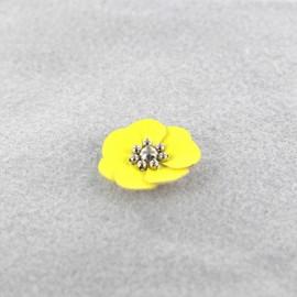 Fleur cuir à coller/ coudre jaune
