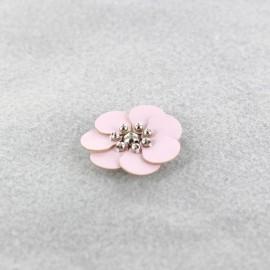 Fleur cuir à coller/ coudre rose pâle