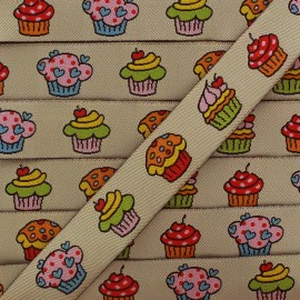 Woven Ribbon, Cupcakes x 1m - multicolored