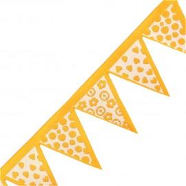 Woven Ribbon, club flag x 20 cm - yellow