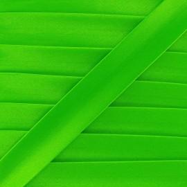 Biais satin  fluo vert  x 1m