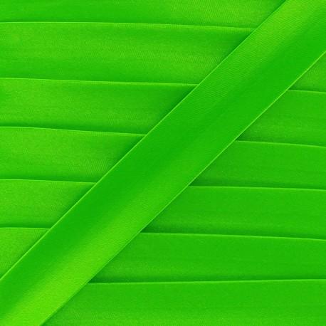 Satin bias binding x 1m - fluorescent green