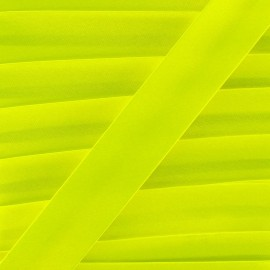 Satin bias binding x 1m - fluorescent yellow