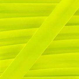 Satin bias binding x 1m - fluorescent yellow