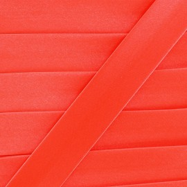 Satin bias binding x 1m - fluorescent orange-red