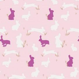 Tissu Coton AGF Anna Elise - Bunny Binkies Fluff x 10cm