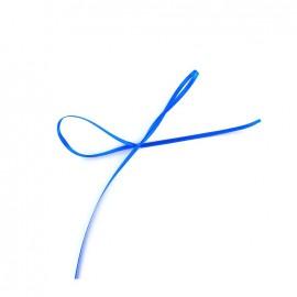 Ruban satin Comete 3mm bleu électrique