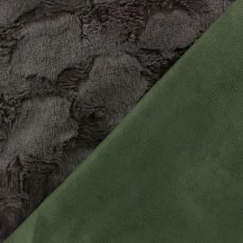 Fourrure Hily marron envers aspect daim vert x 10cm