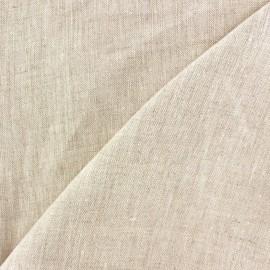 Tissu lin naturel clair x 10cm
