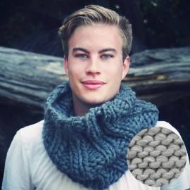 Overdoux Snood knitting kit - driftwood