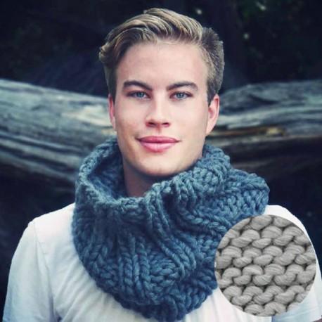 Overdoux Snood knitting kit - black is black