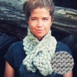 Lucette scarf knitting kit - driftwood