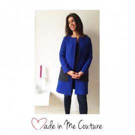 """""""Vendome coat"""" sewing pattern from Made In Me Couture - multicolored"""