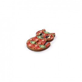 Wooden button Matou - Blossom