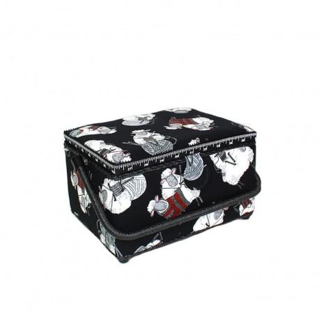 "Sewing box ""Sheeps"" - black"