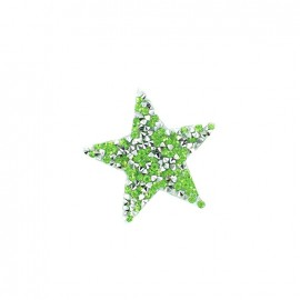 Rhinestones Star Glitter Iron on - light green
