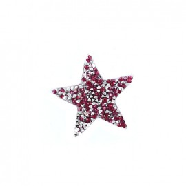 Rhinestones Star Glitter Iron on - fuchsia