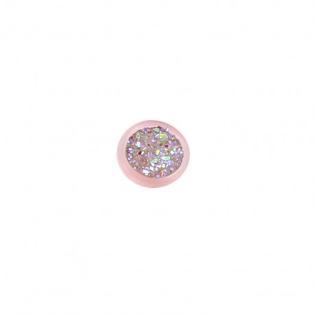 Polyester button Glittery - pink