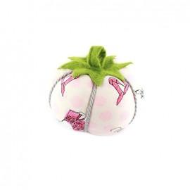 Porte épingles tomate Haute couture rose