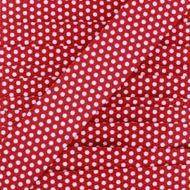 Sangle pois blancs sur fond rouge x 1m