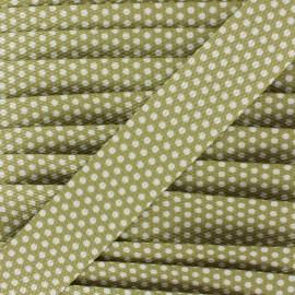 White polka Dots Strap x1m - sand
