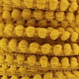 Mini pompon ball braid trimming x 1m - antique gold