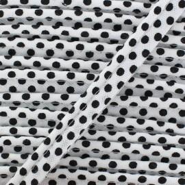 Passepoil coton à pois noir/blanc x 1m