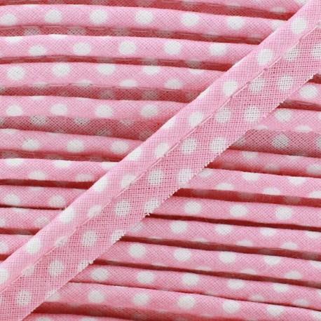Dotty cotton Piping - white/pinkx 1m