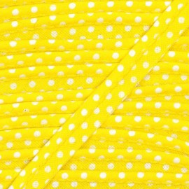Dotty cotton Piping - white/yellow x 1m