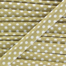 Dotty cotton Piping - white/sand x 1m