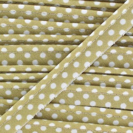 Dotty cotton Piping - white/sand x 1m