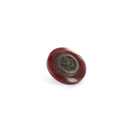 Bouton polyester Army Stars Bordeaux