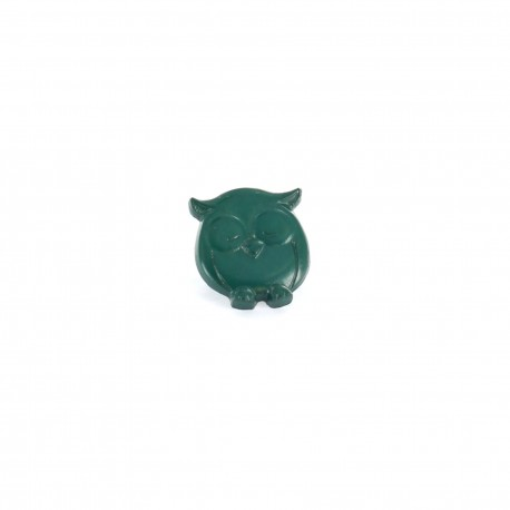 Polyester button P'tite chouette - dark green