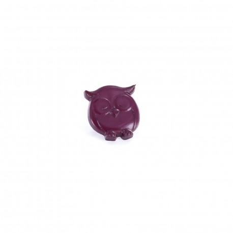 Polyester button P'tite chouette - purple
