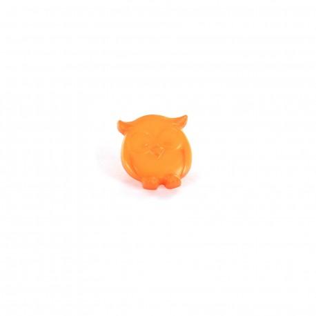 Polyester button P'tite chouette - orange