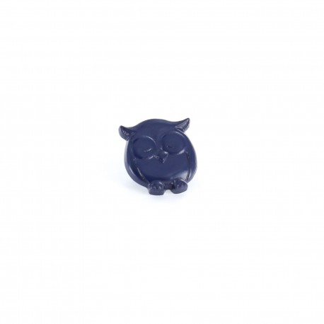 Polyester button P'tite chouette - blue navy