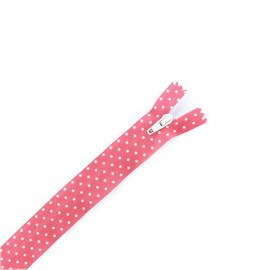 Invisible zipper dots - pink