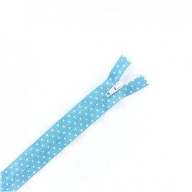 Invisible zipper dots - blue