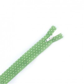 Invisible zipper dots - green
