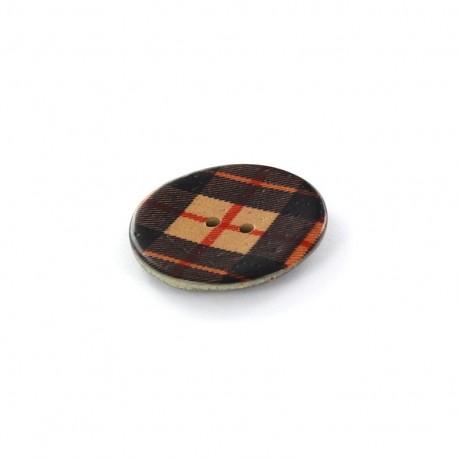 Coconut Button Tartan Edward