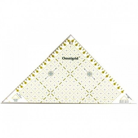 Omnigrid right triangle, patchwork ruler 15 cm - yellow/white