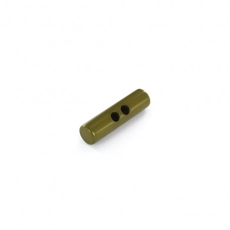 Polyester button, Medium log 45mm - olive green