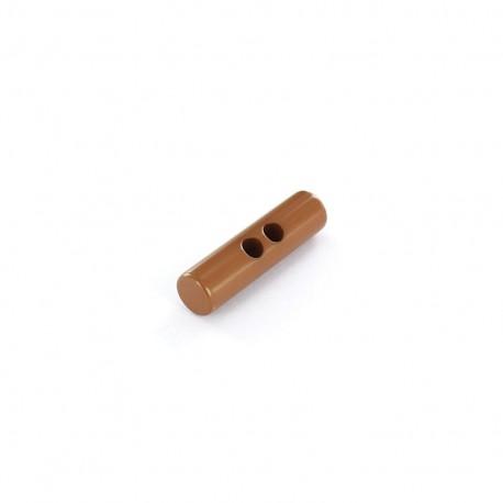 Polyester button, Medium log 45mm - chestnut