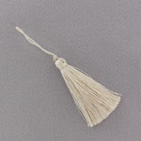 Pompon 70 mm blanc perlé