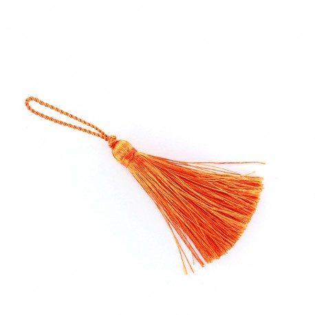 Pompon 70 mm orange