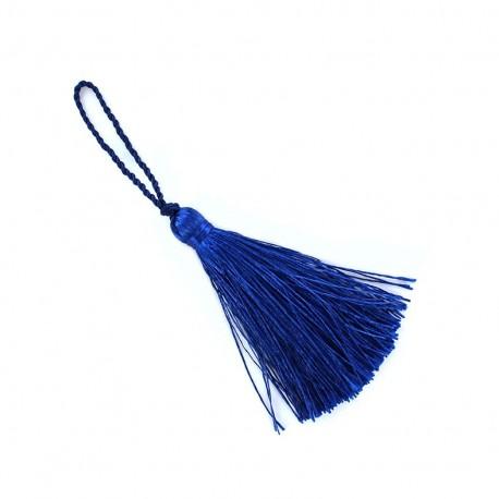 Pompon 70 mm bleu royal