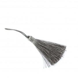 Pompon 70 mm gris