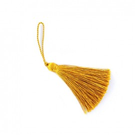 Pompon 70 mm doré
